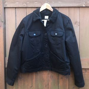 NWT Black Gap trucker jean jacket Sherpa lined